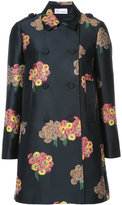 RED Valentino floral print double-breasted coat