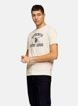 TopmanTopman U.S POLO White Polo Graphic T-Shirt *