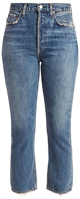 AGOLDE Ripley Mid-Rise Straight-Leg Ankle Jeans