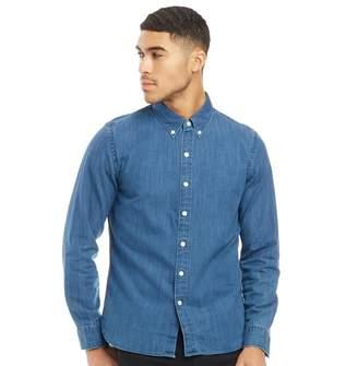 Levi's Pacific No Pocket Long Sleeve Shirt Flat Coated Indigo