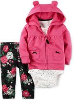 Carter's 3-Pc. Hoodie, Bodysuit & Leggings Set, Baby Girls (0-24 months)