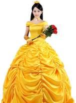 Pettigirl Womens Layered Classic Satin Beauty Princess Cosplay Dress XL