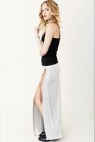 Blue Life Slit Tie Skirt in Heather Grey