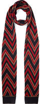Gucci Metallic Jacquard-knit Wool-blend Scarf - Red