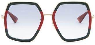 Gucci 56MM Geometric Sunglasses