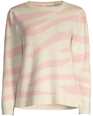 Milly Zebra Intarsia Sweater