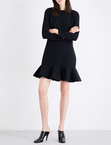 Victoria Victoria Beckham Flounced-hem woven dress