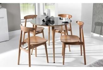 Corrigan Studio Ambervale Dining Table Top Color: Black