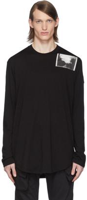 Julius Black Patch Print Long Sleeve T-Shirt