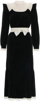 Zimmermann Resistance Velvet Lace Dress