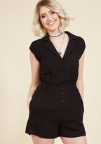 ModCloth Read it and Steep Romper in Black in S