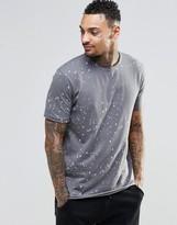 Asos Loungewear Skater T-shirt With Splatter Print And Raw Edges
