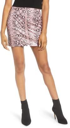 Endless Rose Python Pattern Front Zip Miniskirt