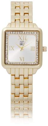 New York & Co. Pave Square Link Watch