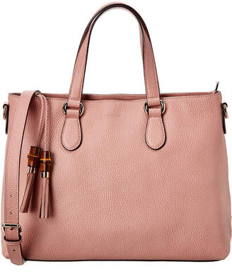 Gucci Pink Leather Tote