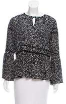 Nicole Miller Floral Print Bell Sleeve Blouse w/ Tags