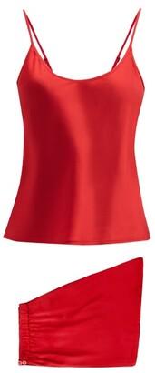 La Perla Silk-satin Pyjamas - Red