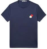 Moncler Maglia Appliquéd Cotton-Jersey T-Shirt
