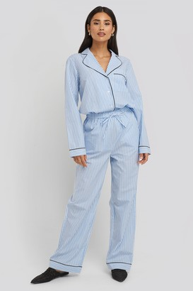 NA-KD Dobby Cotton Night Pants Multicolor