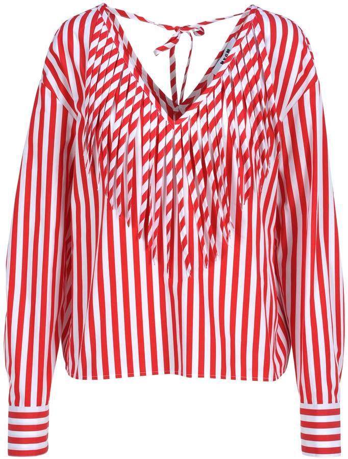 d6724d5da50b08 Red White Striped Blouse - ShopStyle