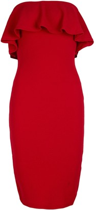 Ladies Boobtube Sequin Black Red Nude Plain Back Bodycon Women/'s Party Dress