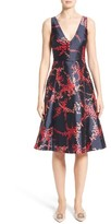 Oscar de la Renta Women's Leaf Print Silk & Cotton Dress