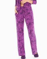Soma Intimates Pajama Pants Mademoiselle Rio Plum Black TL
