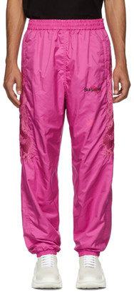 Doublet Pink Chaos Embroidery Track Pants