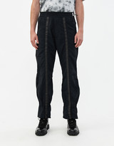 A-Cold-Wall* A Cold Wall* Men's Diesel Red Tag Drawcord Cuff Poly Pant in Black Nylon, Size 28 | 100% Polyester