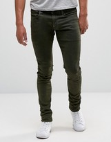 G Star G-Star Revend Super Slim Jeans in Green Overdye