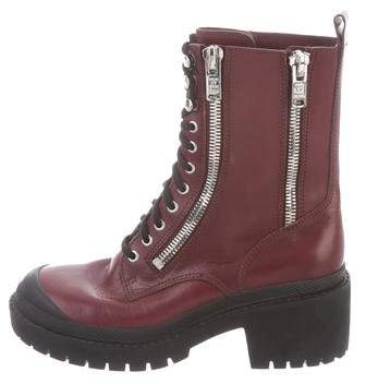 Marc by Marc Jacobs Leather Combat Boots