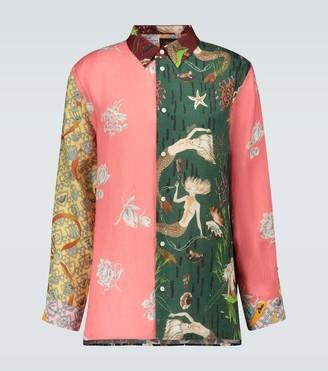 Loewe Paula's Ibiza patchwork printed shirt
