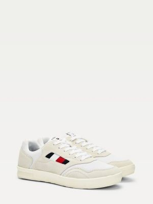Tommy Hilfiger Lightweight Suede Mix Cupsole Trainers