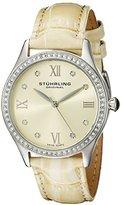 Stuhrling Original Women's 431.03 Vogue Swiss Quartz Crystals Champagne Watch