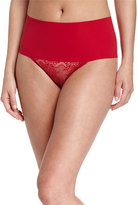 Spanx Undie-Tectable®; High-Waist Lace Thong, Rouge Red