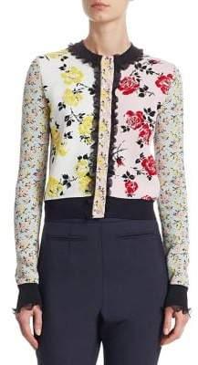 Alexander McQueen Ruffle Floral Patchwork Jacket