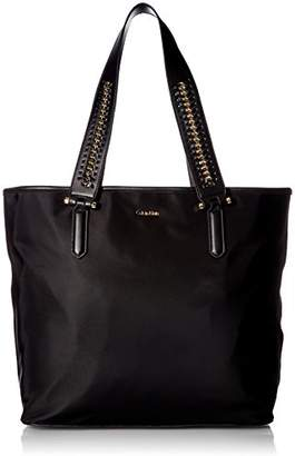 Calvin Klein Florence Nylon Woven Chain Strap Tote Tote Bag