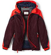 Lands' End Boys Husky Solid Stormer Jacket-Cadet Gray
