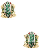 Noir Frog CZ Stud Earrings