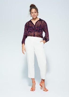 MANGO Violeta BY Organza flower blouse purple - 10 - Plus sizes