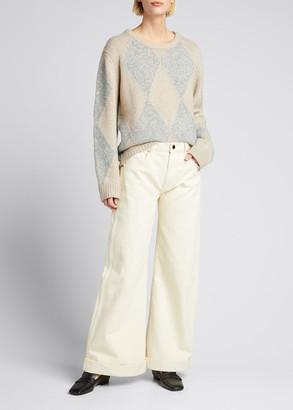 KHAITE Daisy Argyle Cashmere Sweater