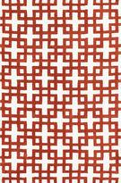 Loloi Charlotte Ivory & Rust Geometric Rectangular Rug