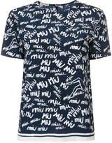 Miu Miu logo graffiti top