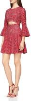 BCBGMAXAZRIA Cutout Lace Dress