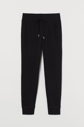 H&M Cotton-blend Joggers - Black