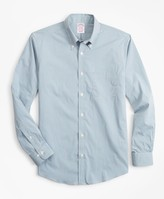 Brooks Brothers Madison Classic-Fit Sport Shirt, Performance Series with COOLMAX, Gingham