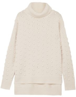Lela Rose Wool And Cashmere-blend Turtleneck Sweater