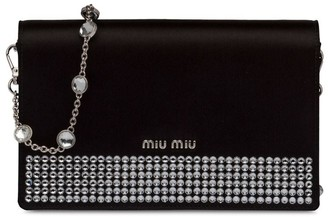 Miu Miu Starlight satin clutch