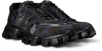 Prada Cloudbust Thunder Rubber And Camouflage Mesh Sneakers