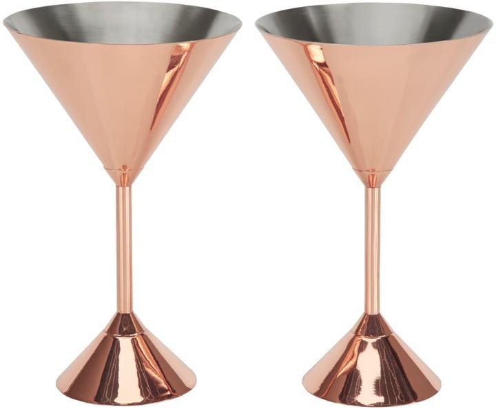 Tom Dixon Plum Martini Glasses, Set of 2